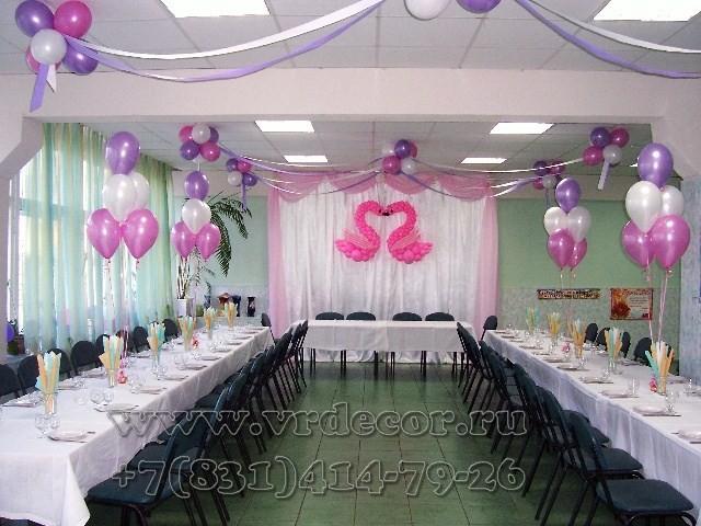 Лебеди из шаров для украшения свадьбы