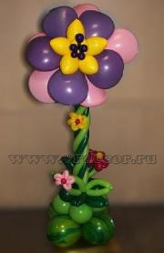 Цветок из шаров к 8 марта