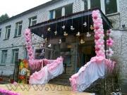 Оформление воздушными шарами юбилея в загородном доме