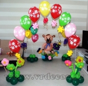 Украшение комнаты на детский праздник