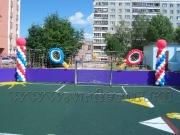 Украшение спортивной площадки в детском саду.