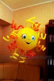 Солнце из воздушных шаров