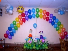 Оформление воздушными шарами двадцатилетия детского сада