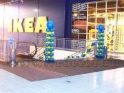 """Оформление воздушными шарами торгового центра """"Мега"""""""