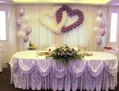 сердца из шаров для оформления свадьбы
