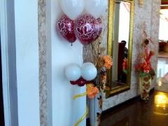 Украшение свадьбы воздушными шарами