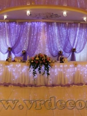 оформление свадьбы тканью