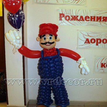 Оформление воздушными шарами  офиса ЗАО «Меридиан»  на день рождения компании..