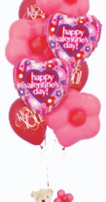 Букет из воздушных шаров к Дню всех влюбленных