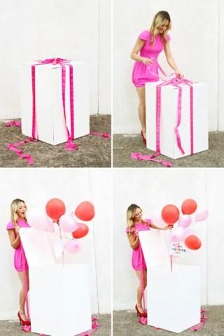 Коробка сюрприз своими руками с шарами 136