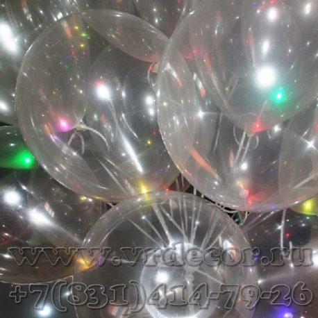 Воздушные шары с разноцветной подсветкой