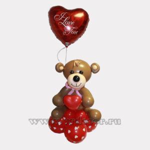 Медвежонок из воздушных шаров