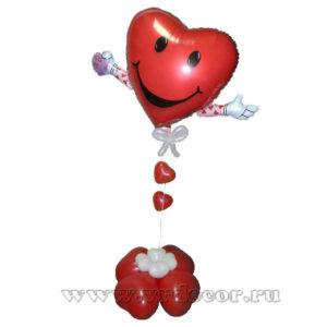 Валентинка из шаров