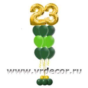"""Букет из шаров с гелием """"23 февраля"""""""