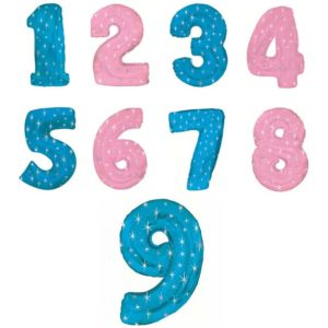 Шар-цифра со звездами