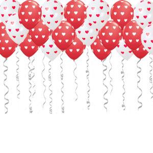 """Воздушные шары с рисунком """"Сердца"""""""