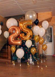 Оформление юбилея 25 лет