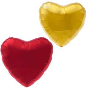 Шары в форме сердца из фольги