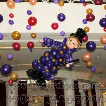 Тематическое оформление воздушными шарами мероприятия «Магия+кино»
