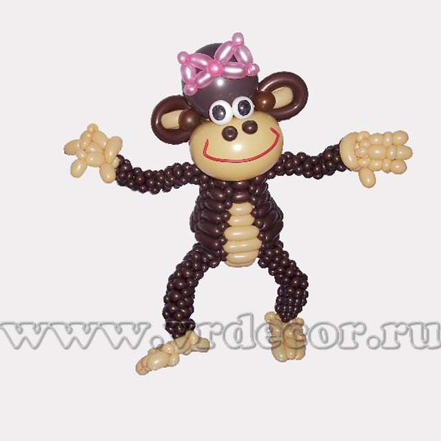 из воздушных фото обезьянка шаров
