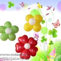 Простые цветы из шаров