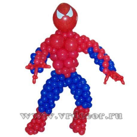 Фигура человека-паука из шаров