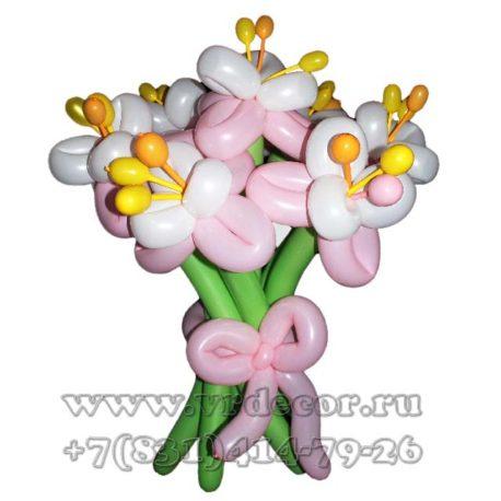 Весенние цветы из воздушных шаров