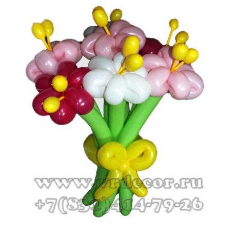 Букет полевых цветов из воздушных шаров
