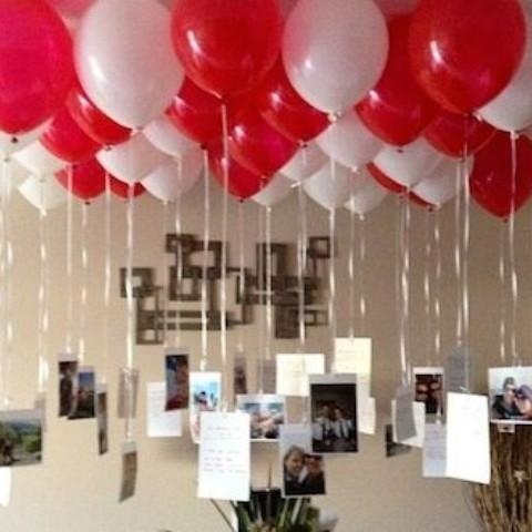 Украшение комнаты воздушными шарами