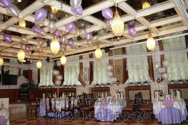 Шары под потолок для украшения зала