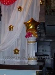 Оформление воздушными шарами юбилея