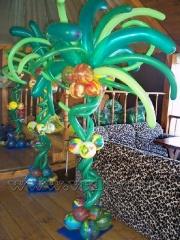 Оформление дня рождения в тропическом стиле