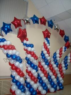 Оформление воздушными шарами к 23 февраля