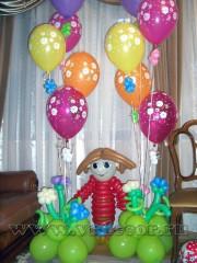 Домовенок Кузя из воздушных шаров