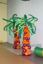 Пальмы из воздушных шаров