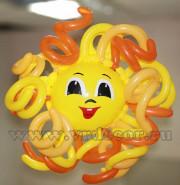 Солнышко из воздушных шаров