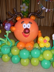 Смешарик из воздушных шаров