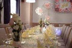 композиции из цветов на гостевые столы
