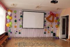 Оформление выпускного в детском саду воздушным шарами