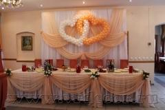 Оформление свадьбы тканью и шарами
