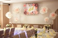 оформление свадеб бумажными цветами