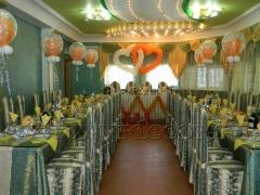"""Оформление свадьбы воздушными шарами в кафе """"Березовая роща"""""""