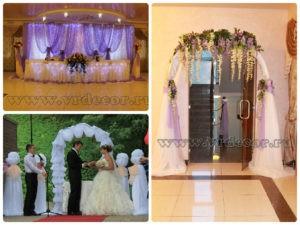 Текстильное украшение свадеб. Свадебный декор. Флористика.