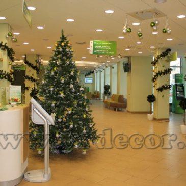 Новогоднее оформление отделений Сбербанка в Нижнем Новгороде
