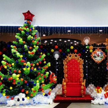 Новогоднее оформление в торговом центре в г.Краснодар