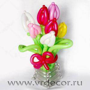 Тюльпаны из воздушных шаров
