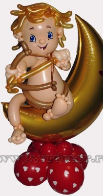 амур из воздушных шаров