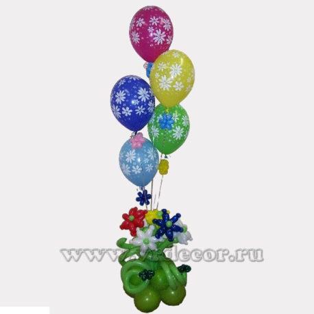 """Букет из воздушных шаров """"Ромашки"""""""