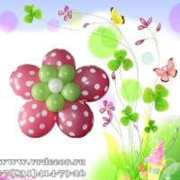 Цветок из шаров с рисунком