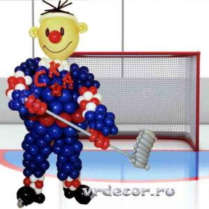 Хоккеист из шаров в форме СКА